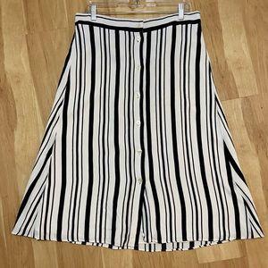 LOFT button up A-line skirt